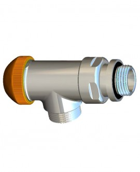 Robinet cu ventil termostatic DeLuxe , model colţar special , alb S 7638 44