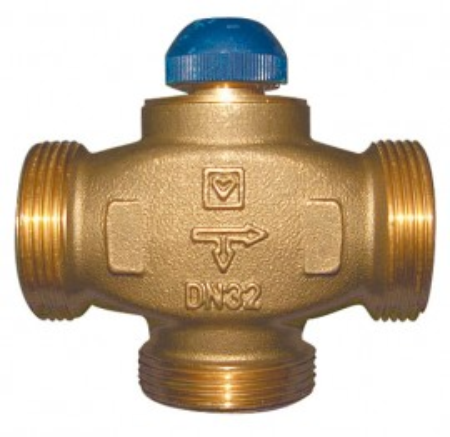 Robinet termostatic cu trei căi, cu distribuţie 100 % pentru instalaţii de răcire şi încălzire Herz Calis-TS-RD DN 32 1 7761 41