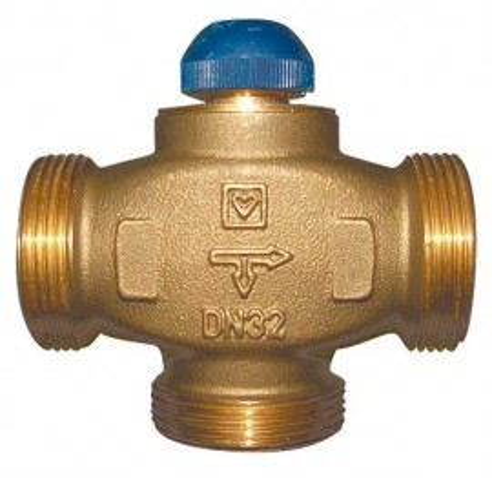Poze Robinet termostatic cu trei căi, cu distribuţie 100 % pentru instalaţii de răcire şi încălzire Herz Calis-TS-RD DN 15 1 7761 38
