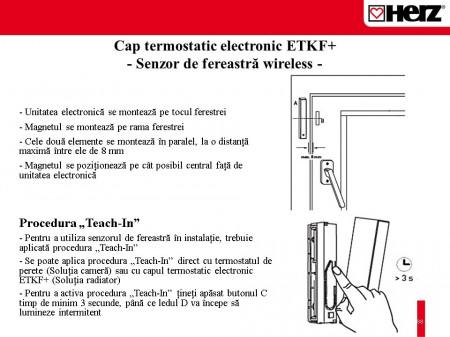 Poze Senzor fereastra wireless pentru cap term electronic Herz ETKF+ 1 8251 02