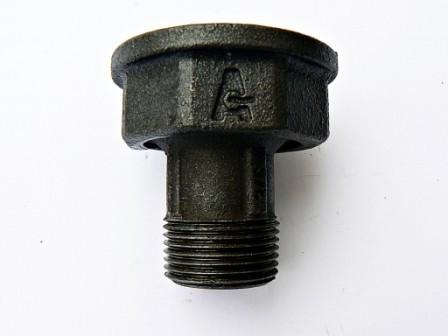 "Poze Ansamblu racord - forma A - piulita de  1""  si racordul de  3/4"" cod 171"