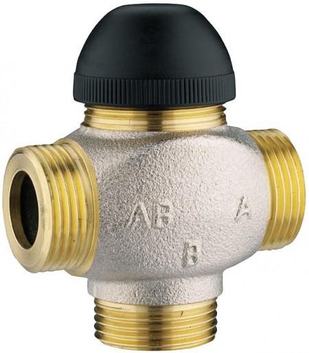 """Poze Robinet cu ventil termostatic cu trei căi, fără teu de legătură pe bypass, pentru amestec şi distribuţie Kvs=4,00 DN 15 (filet ext de 3/4"""")1 7762 61"""