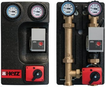 Poze Grup de pompare Herz PUMPFIX MIX, cu by-pass 0÷50%, cu pompa, kvs 10, DN 25, cod 1 4511 49