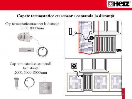 Poze Termostat cu senzor la distanţă Herz Design 1 9430 08