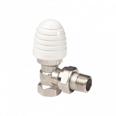 Set format din roată de manevră HERZ-Design si robinet cu ventil termostatic coltar 1 9102 80 1 7724 91