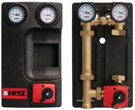 Poze Grup de pompare Herz PUMPFIX MIX, cu by-pass 0÷50%, fara pompa, kvs 10, DN 25, cod 1 4511 46