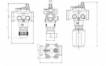 Poze Regulator de presiune diferențială Herz FIX VS-TS, cu control integrat, închidere și robinet de zonă, DN 20, cod 1 4012 22