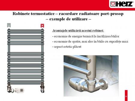 "Robinet cu ventil termostatic DN15 HERZ-TS-90 Model în trei axe ""AB"" 1 7758 91"