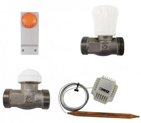 Set de reglare pentru încălzirea în pardoseală pentru încăperi cu suprafața până la 120 mp