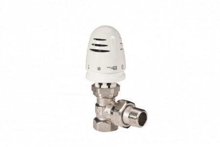 "Set termostatic alcatuit din robinet cu ventil termostatic Herz TS-90, model coltar, DN15(1/2"") si cap termostatic Mini, cod 19200301772491"