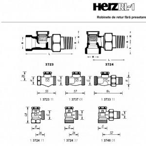 HERZ-RL-1-Robinet de retur model colţar DN 15 1 3724 41