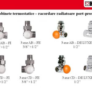 """Robinet cu ventil termostatic, model in 3 axe """"CD"""", M30 x 1,5 - 1/2'', FE, cod 1 7746 26 si conector de 15(Cu) sau 16 (PeX)"""