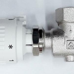 Set format din robinet cu ventil termostatic Herz , model colţar special , si cap termostatic Project