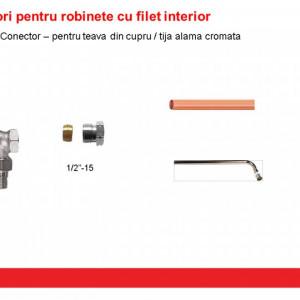 """Conector Herz cu garnitură metalică 1/2"""" x 15 cod 1 6292 01"""