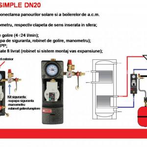 Grup de pompare HERZ-Pumpfix SOLAR Simple cu pompa Wilo 1 7314 33