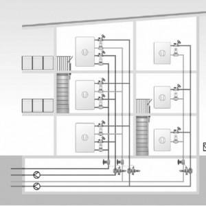 Robinet cu ventil termostatic Herz cu trei căi, cu teu de legătură pe bypas DN15 (filet 3/4'') 1 7763 61 kvs=4