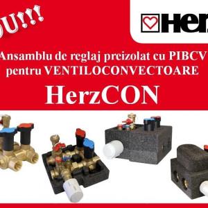 Ansamblu de reglaj preizolat HerzCON racordare rapidă pentru ventiloconvectoare DN15 1 4600 51