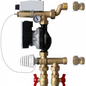 Grup de amestec Herz pentru sisteme de încălzire radiantă cu pompa de recirculare de inalta eficienta, cod 1 7320 05