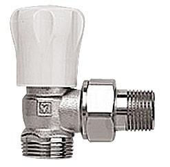 """HERZ-GP-Robinet de reglare pentru corpurile de încălzire, DN 15, model colţar, filet exterior G3/4"""" 1 5548 31"""