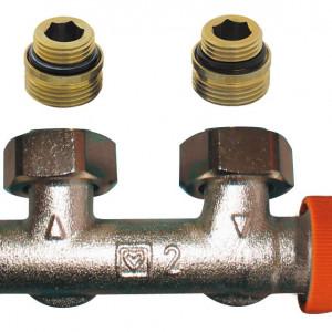 Piesa de legatura cu robinet termostatic incorporat Herz TS-3000, cod 1 3694 91