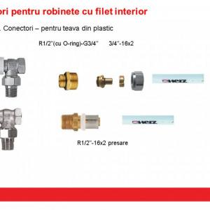 """Racord pentru ţevi din material plastic 3/4"""", pentru ţevi din PE-X, PB şi cu inserţie de Al G3/4"""" 16 x 2 mm cod 1 6098 03"""
