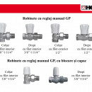 """Robinet de reglare corpuri de încălzire HERZ-GP manual drept DN 15(1/2"""")"""