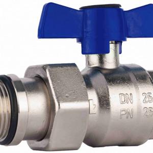 Set robineti drepti cu sfera olandez cu O-ring Herz Armaturen pentru distribuitoare DN25 (1''), PN25