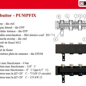 Distribuitor pentru 3 grupuri de pompare PUMPFIX DN 25 1 4501 12