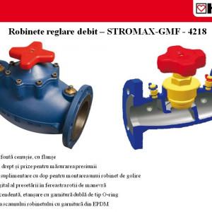 Robinet de reglare debit coloane cu prize de presiune, corp cu flanşe, model cu scaun drept Stromax - GMF DN 80 kvs 68,5 cod 1 4218 48