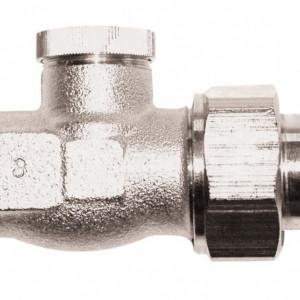 Robinet retur drept 1/2'' RL-1, cu filet exterior si conector de 15 (Cu)sau 16 (PeX)