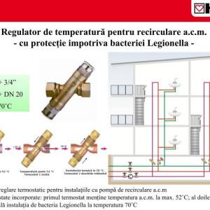 Regulator de temperatură , Herz ,pentru recirculare apă caldă menajeră DN 15 cod 2 4011 11