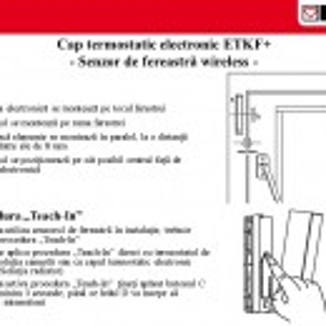 Senzor fereastra wireless pentru cap term electronic Herz ETKF+ 1 8251 02