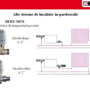 Set limitator de temperatură pentru retur coltar DN 15 cod 1 9201 24