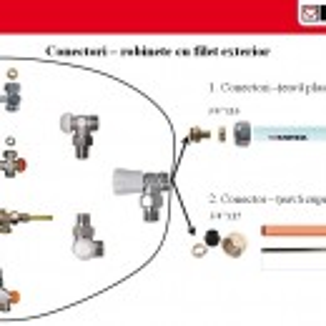 Conector teava CU DN=15mm 1 6276 15