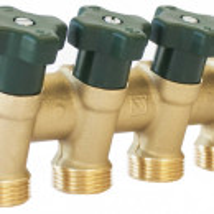 Distribuitoare Herz pentru instalații sanitare cu 4 circuite, DN 20, PN 10, cod 2 8530 04