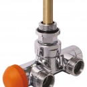 Robinet cu ventil termostatic cromat - model Herz DeLuxe pt racordarea radiatoarelor de baie portprosop S 7648 41
