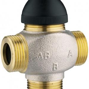 """Robinet cu ventil termostatic cu trei căi, fără teu de legătură pe bypass, pentru amestec şi distribuţie Kvs=4,00 DN 15 (filet ext de 3/4"""")1 7762 61"""