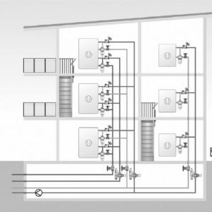 Robinet cu ventil termostatic Herz cu trei căi, cu teu de legătură pe bypas DN15 (filet 3/4'') 1 7763 51 kvs=2.5