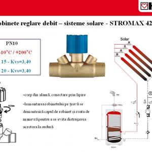 Robinet de reglare pentru sisteme solare( incalzire sau climatizare)STRÖMAX-4216 DN 20