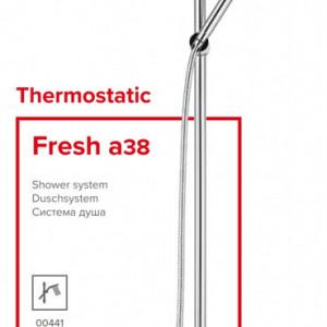 Sistem de duș Herz Fresh Thermostatic (a38), cu baterie termostatică