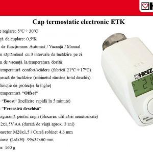 Cap termostatic electronic , programabil , Herz , cod 1 8250 10
