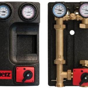 Grup de pompare Herz PUMPFIX MIX, cu by-pass 0÷50%, fara pompa, kvs 10, DN 25, cod 1 4511 46
