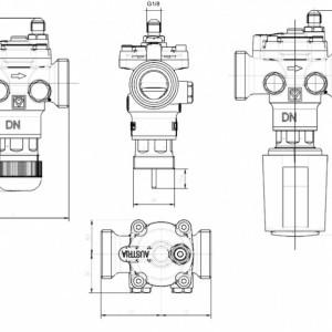 Regulator de presiune diferențială Herz FIX VS-TS, cu control integrat, închidere și robinet de zonă, DN 20, cod 1 4012 22