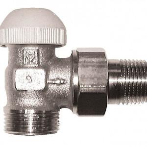 Set termostatic Herz cu robinet cu filet exterior si conector