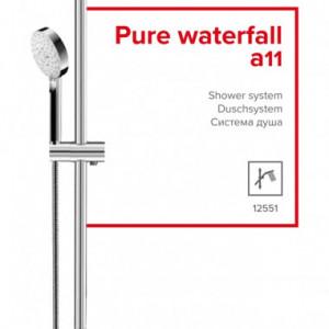 Sistem de dus Herz Pure Waterfall (a11) pentru baterii de dus / cada montate de pe perete sau ingropate