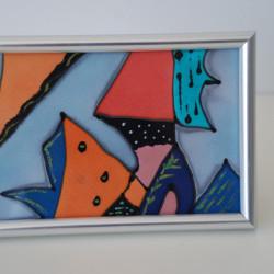 Картина върху рисувана коприна