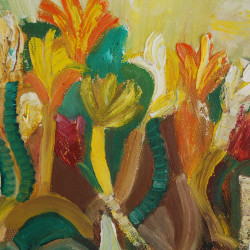 Минзухари - маслени бои