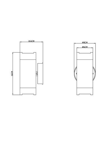 Aplica de exterior otel inoxidabil negru, 2 becuri, dulie GU10, Globo 32005-2