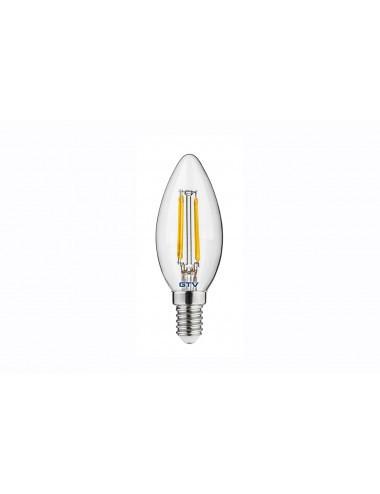 Bec led Vintage, 4W(35W), E14, 400 lm, A+, lumina calda, GTV