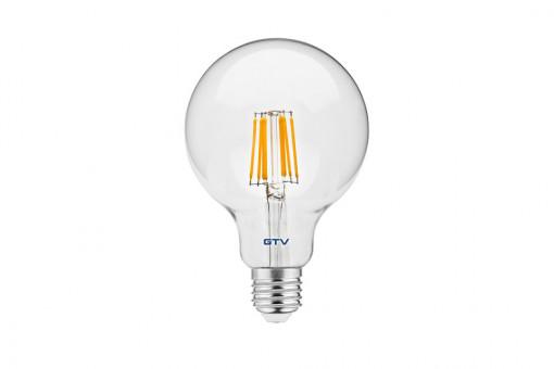 Bec led Vintage, 8W(60W), E27, G95, 810 lm, A+, lumina calda, GTV